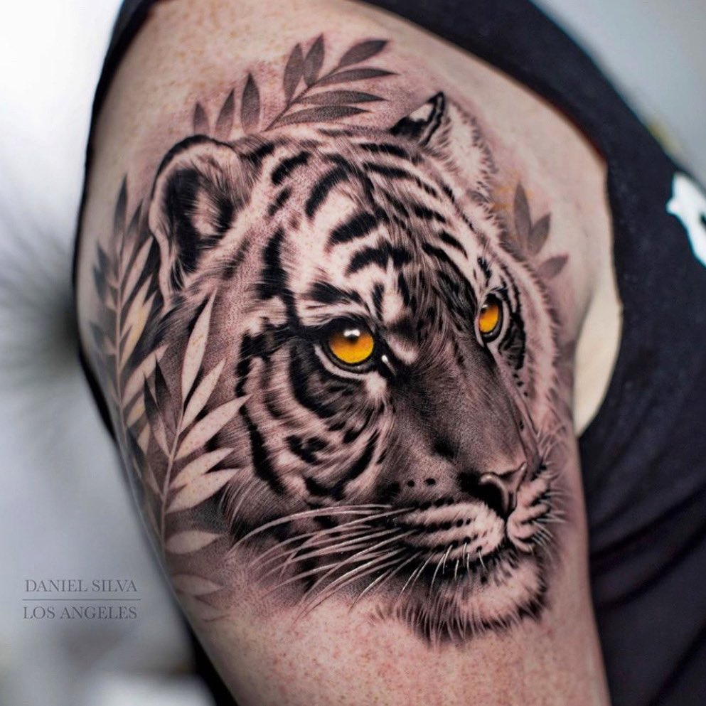 Right upper arm  tattoo