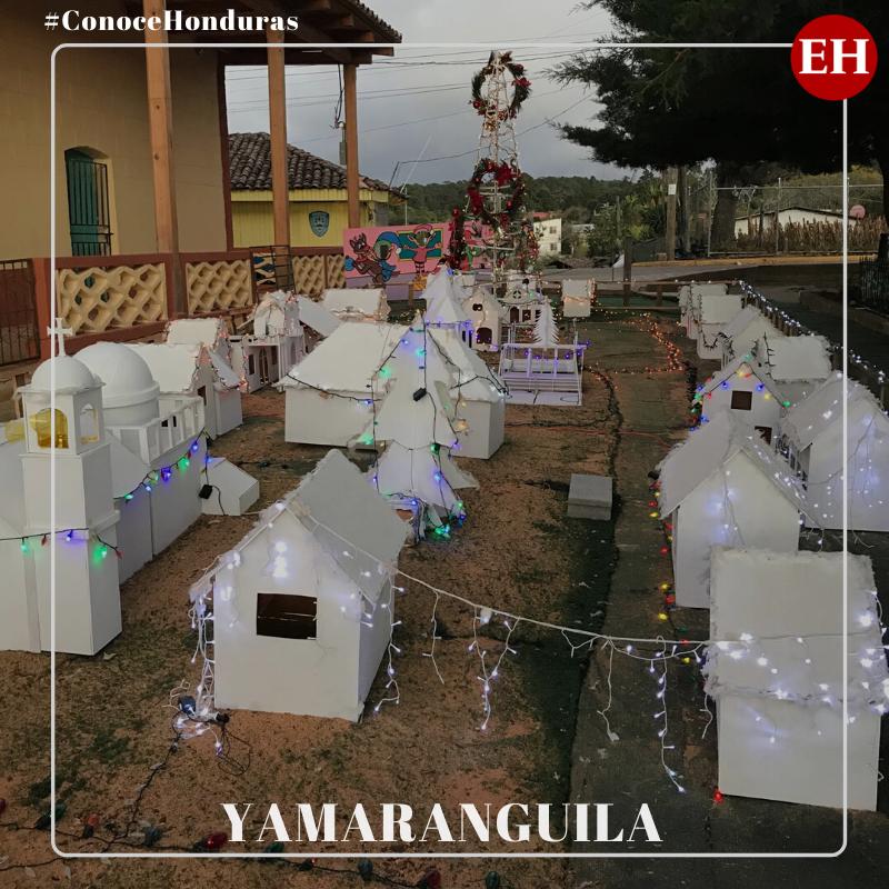 """#ConoceHonduras  Yamaranguila es un """"pueblo con encanto"""" que está a 15 minutos de La Esperanza, Intibucá. Este rincón catracho resalta por sus limpias calles y un gran nacimiento que brilla en el parque central en la época decembrina"""