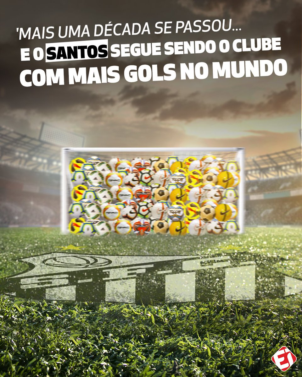 VOCÊ DISSE 'GOLS'?! Com 12613 gols feitos na história do futebol, o Santos lidera o ranking mundial! ⚽️ https://t.co/kZDxy1vojo