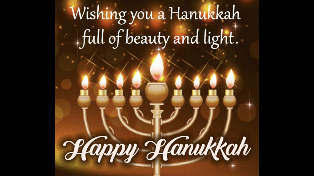 To our friends who celebrate the Festival of Lights  Happy , happy Hanukkah! https://t.co/frmzCDCphF