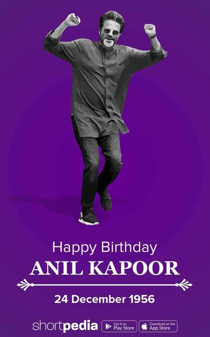 Happy birthday anil kapoor sir  I\m big fan your