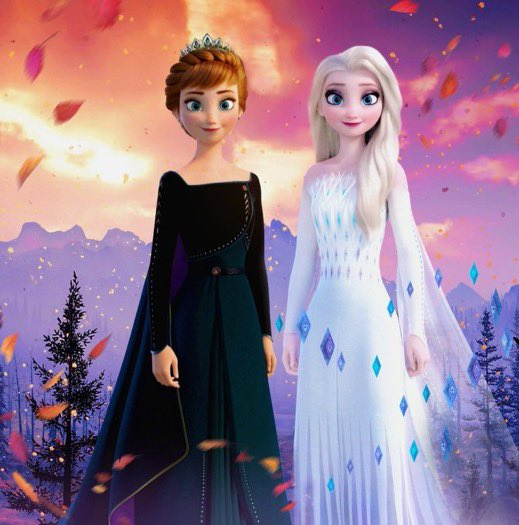 Two of the most influential and empowering women ever.   They both just look so gorgeous in their final outfits.   #Anna  #Elsa  #Frozen  #frozen2  #queenanna <br>http://pic.twitter.com/bNbaHbrTdT