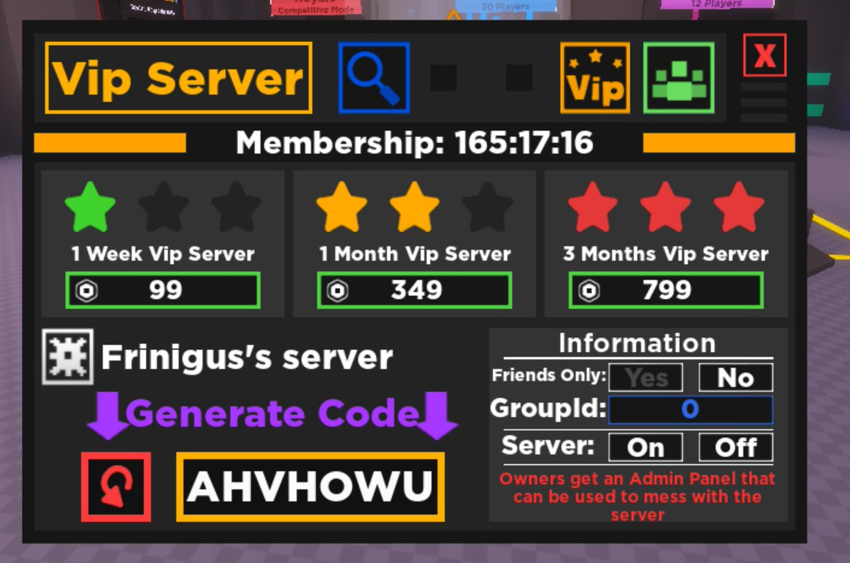Roblox Account Vip Matthew Allsbrook On Twitter Space Experiment Now Has A Custom Vip Server System Owners Are Given An Admin Panel To Mess With The Game As Much As Possible Play By Yourself Or