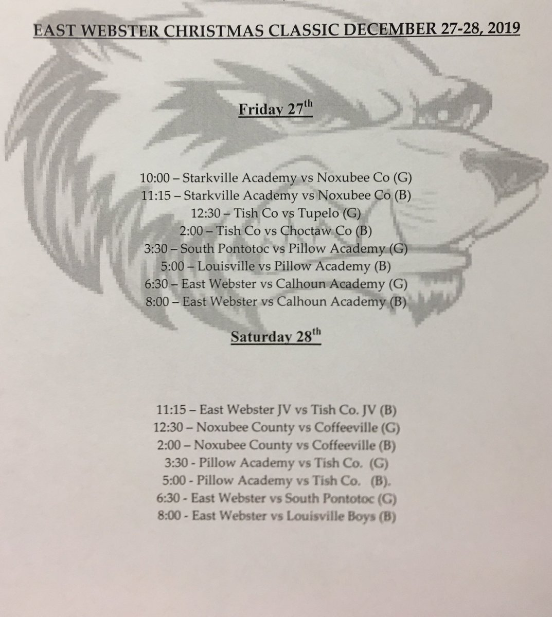 #LadyBravesBasketball will be back in action at the East Webster Christmas Classic. @AthleticsTCHS