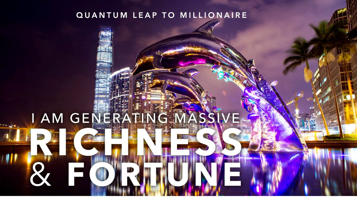 """I am generating massive RICHNESS & FORTUNE. 🎆🐚🐉 ⌚👊⚙️💰  """"QUANTUM LEAP TO MILLIONAIRE""""🧠💎 ▶️ I want to know more about the program https://t.co/zfXarp0sbB https://t.co/wAcSizER0W"""