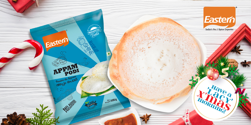 Premium rice powder mix to make succulent, mouth-watering appams laced with crispy, delicate edges !  #TheEasternExperience https://t.co/Z72H7Yd1XY