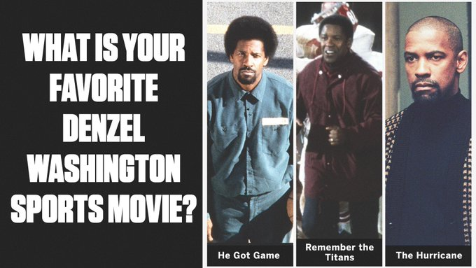 Happy 65th Birthday Denzel Washington! Which one of his sports movies is your favourite?