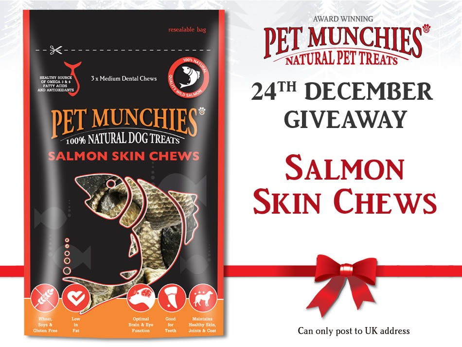 #win #PetMunchies 24th Dec #christmas  #giveaway Simply follow & RT this post to be in with a chance.! Enter as many times as you like up to 24th Dec.   #dog #wild #salmon #fish #treats #dogtreats #dogs #dogchew #dental #dogsoftwitter #AdventCalendar #dogsofinstagram<br>http://pic.twitter.com/yXsQoSiyK5