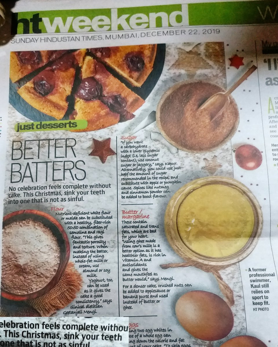 Thank you Hindustan Times by #Dietician #Nutritionist Geetanjali Ahuja Mengi talking about Better Batters  To know more call us on 9869192070 Mail us on gmnclinic@gmail.com   http://www. dieticiangeetanjali.com        http://www. geetanjalimedicalnutritionclinic.com       #bandra #santacruz #Dadar #Kempscorner #charniroad <br>http://pic.twitter.com/InEDa11AA5