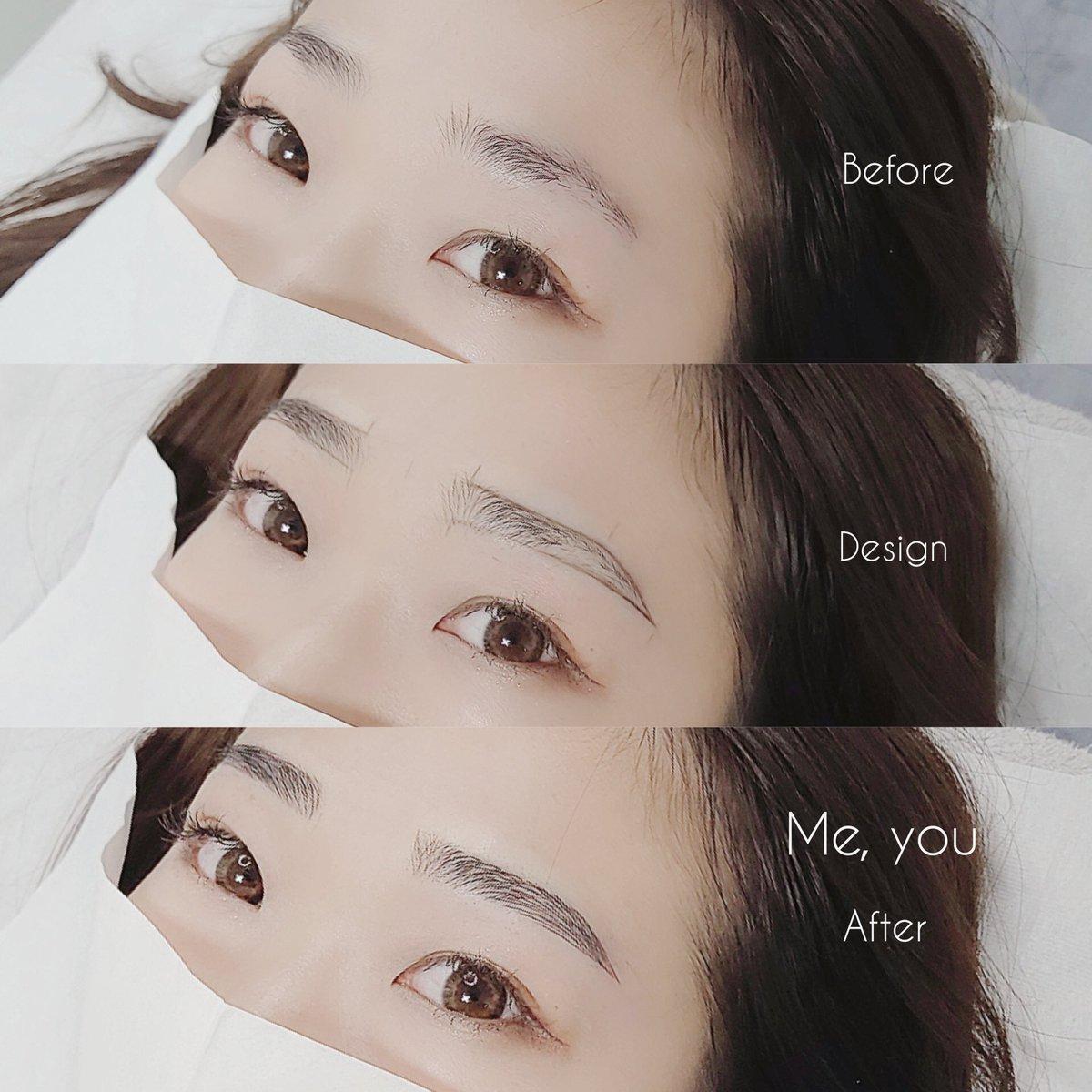 メイク 眉毛 韓国
