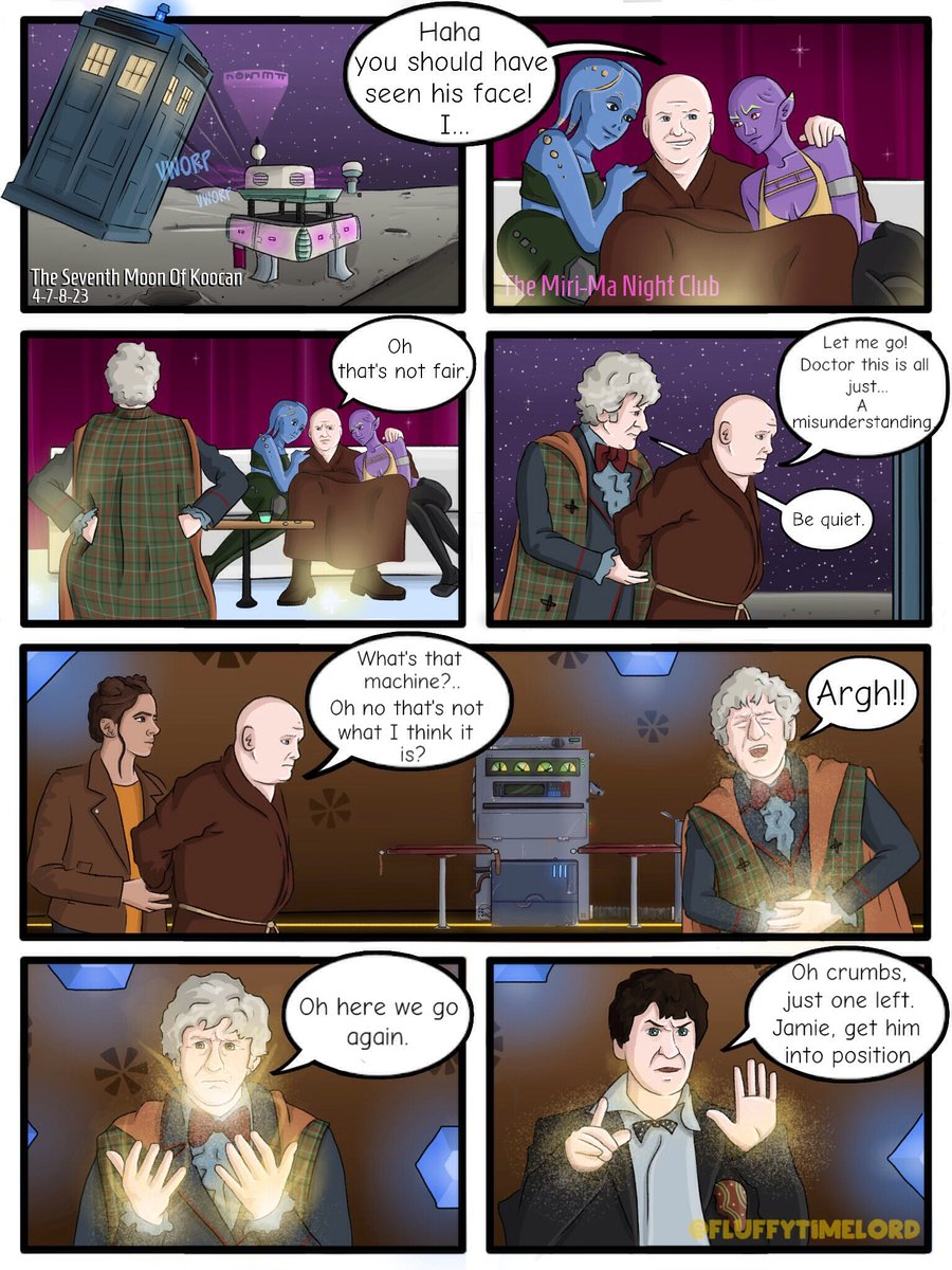 Day Twenty Four  ~ The Doctors Christmas Gift (Comic) - Part 8  Its been a LOT of work but I hope you all enjoyed it  #DoctorWho  #AdventCalendar #Christmas #Comic #JodieWhittaker #PeterCapaldi #JonPertwee #PatrickTroughton #WilliamHartnell #BradleyWalsh #MandipGill #TosinCole<br>http://pic.twitter.com/7S8grR83te