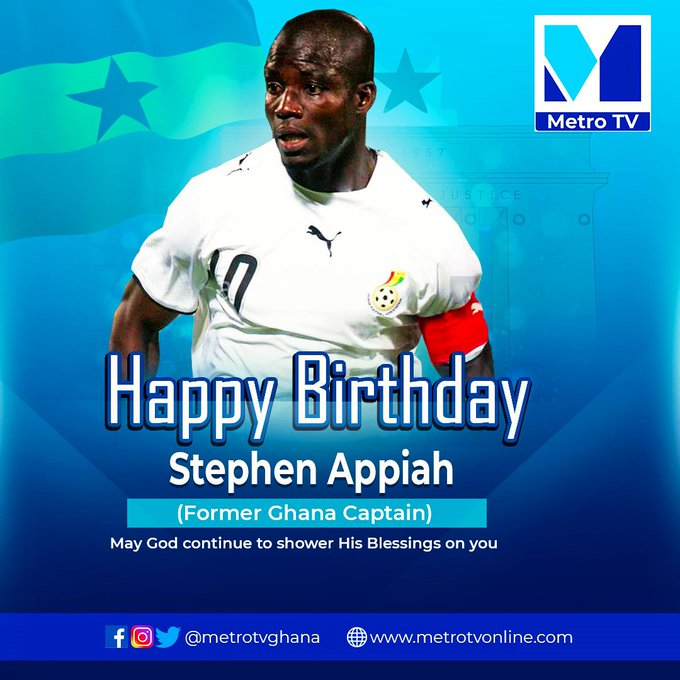 Happy Birthday Stephen Appiah.  Wishing you a day filled with happiness and joy.