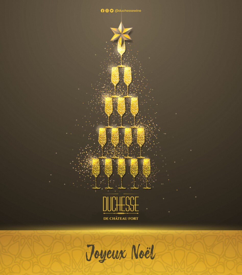 Célébrons Noël avec élégance et goût. Joyeuse fête à tous... DUCHESSE de CHÂTEAU FORT, success lifestyle ! #Duchessewine #vindefrance #HappyChristmasDay #winelovers #successlifestyle pic.twitter.com/4sCODLa8te