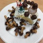【たけのこ派に愛の手を】きのこ派が生み出したクリスマスケーキが映えすぎて話題に