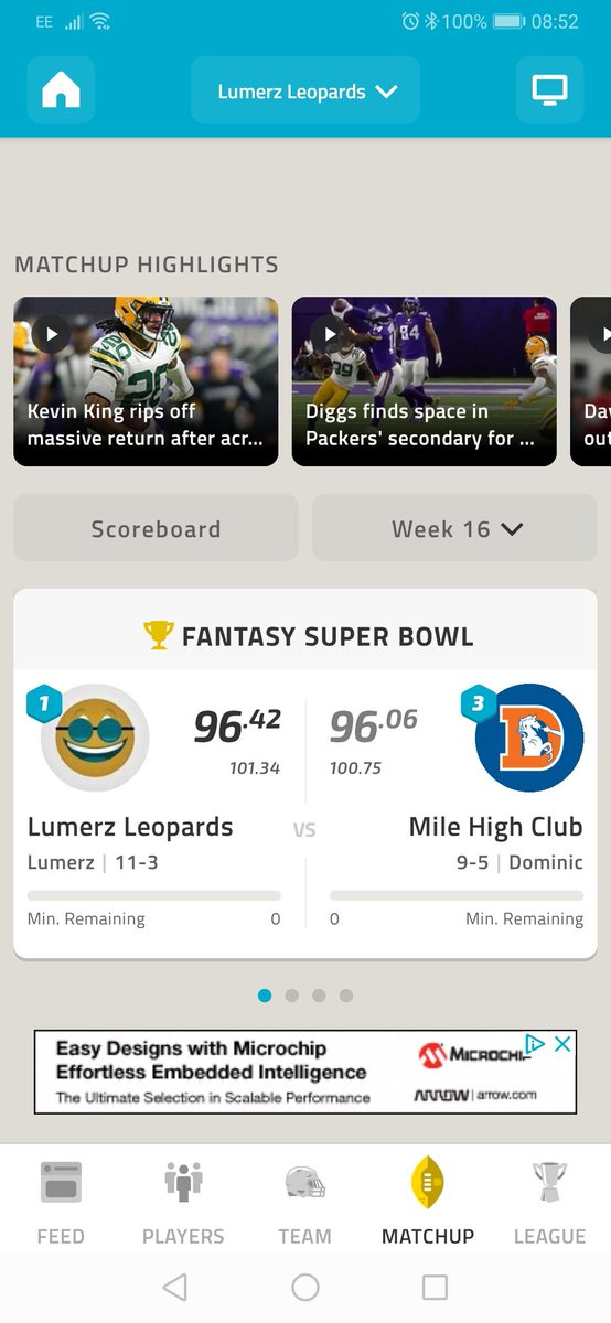 @NFLFantasy Needed a good game from Adams and Vikings defence, and I scrapped a win. #MondayNightMiracle