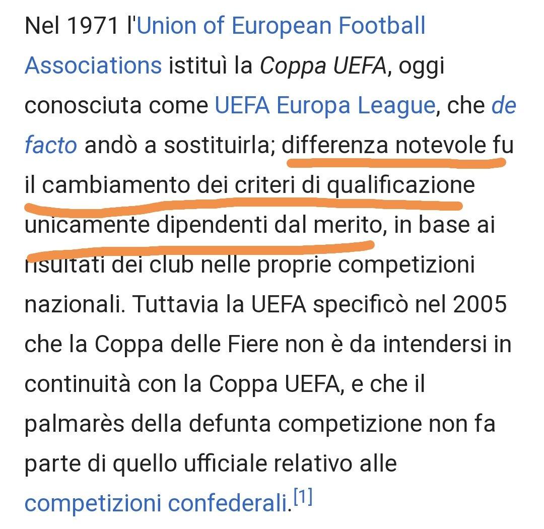 La Coppa delle Fiere era una coppa che si basava su inviti..e non su meriti sportivi ..per quello che non e' stata riconosciuta  successivamente come antesiniana della Coppa Uefa.. Il resto so' chiacchiere ...... Notare la classifica 1959-60... #coppadellefiere #roma #trofei https://t.co/1FJIiSaQ3q