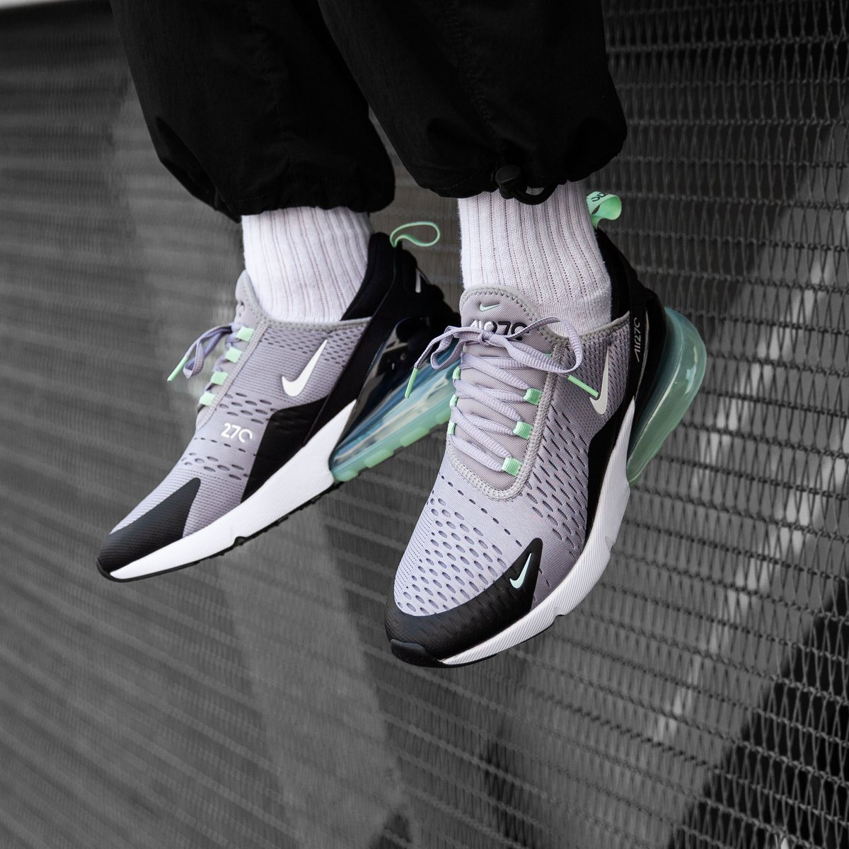2019 Summer Nike Air Max 270 Atmosphere GreyFresh Mint Black CJ0520 001