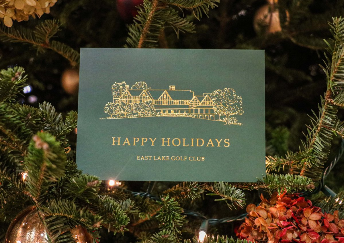 To you and yours, Happy Holidays from East Lake Golf Club. https://t.co/DIRA2U6c2l