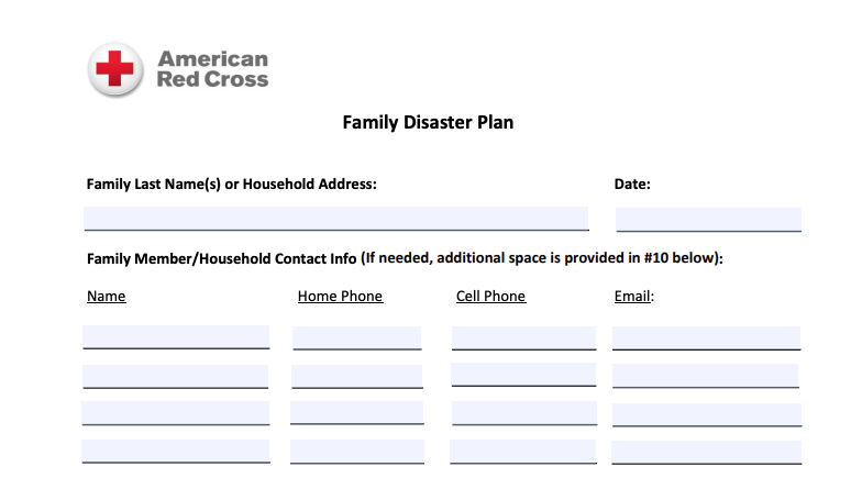 Co Wy Red Cross On Twitter Do You Have A Family Disaster