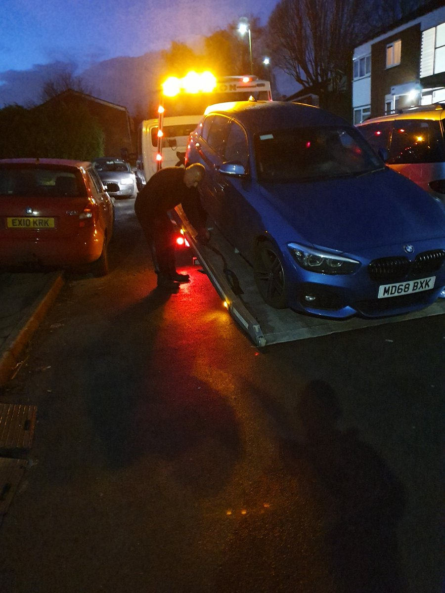 PCSOs have seized another stolen vehicle Berkley Road Hay Mills #backtoitsrightfulownerbeforechristmas