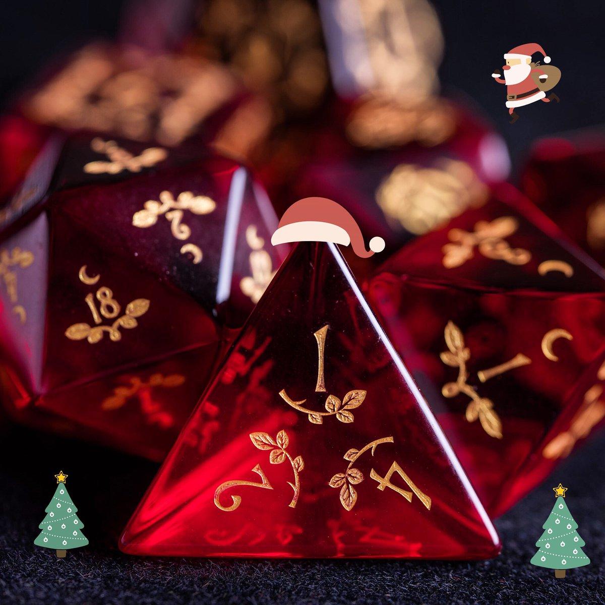 Merry Christmas, my friends🎅🏻❤️ #dnd #dice #ttrpg #dungeonsanddragons