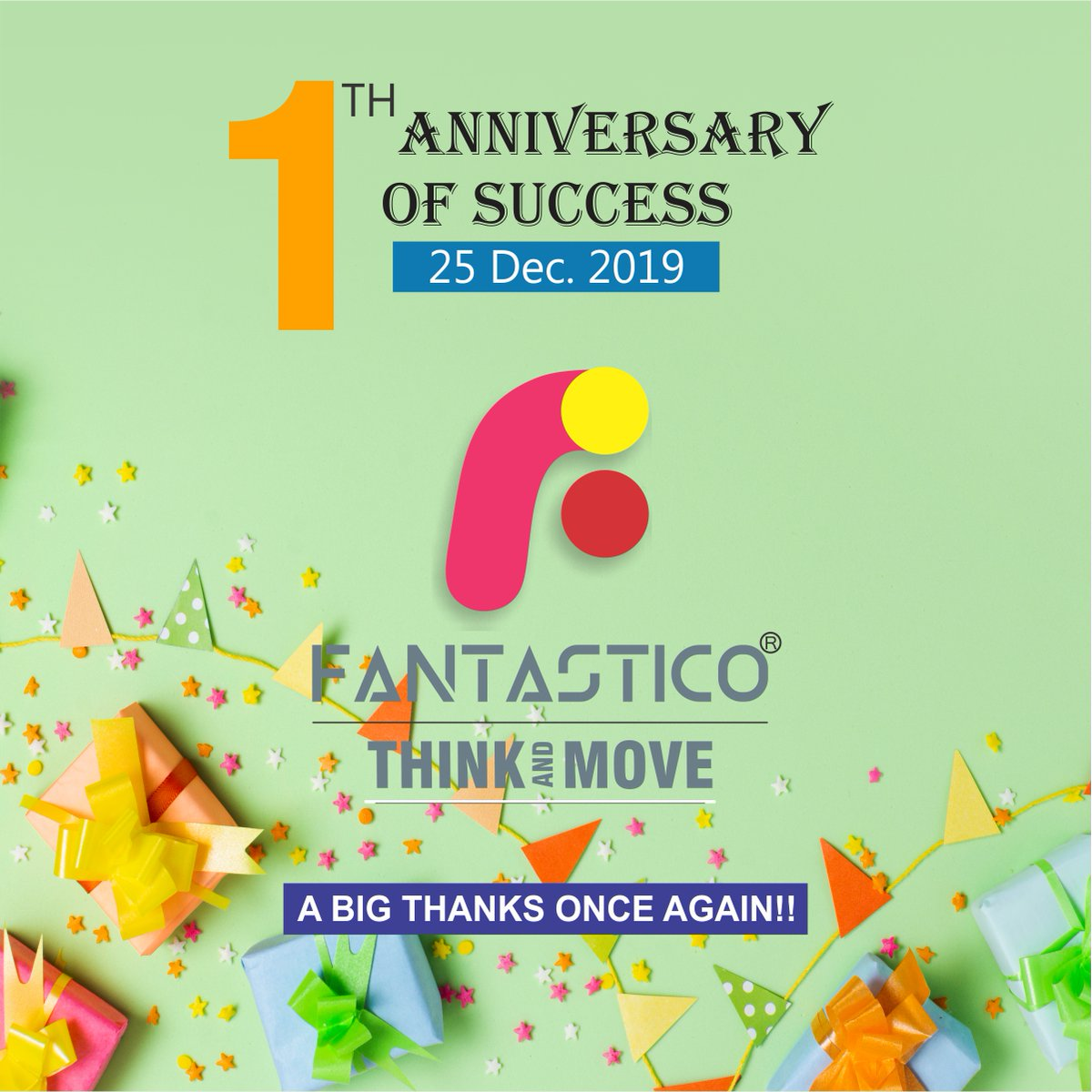1st Anniversary of Success FantasticoGreat Brand. Smart Prices.#Fantastico #Shoes #designs #Brand #Janmashtami #FantasticoShoes #Handcrafted #shoes #MenShoes #MenFootwear #MenFormalShoes #MenFormal #MenDressShoes #FormalShoes #BusinessShoes #OfficialShoes #PartyShoes #India