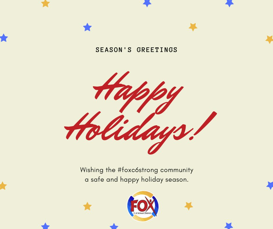 Have a safe and happy Holiday Season, #Foxc6strong Family!