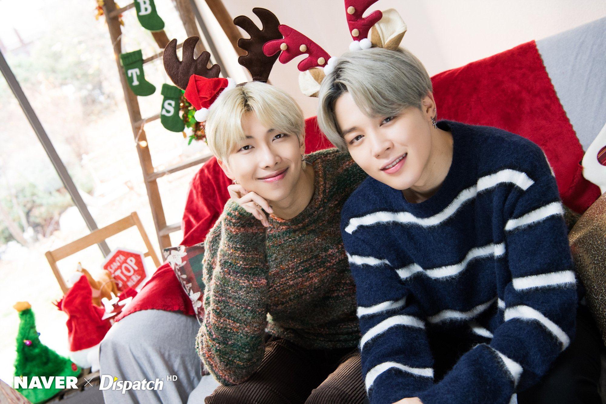 BTS Bersama Dispatch Merilis Foto Spesial Natal untuk ARMY