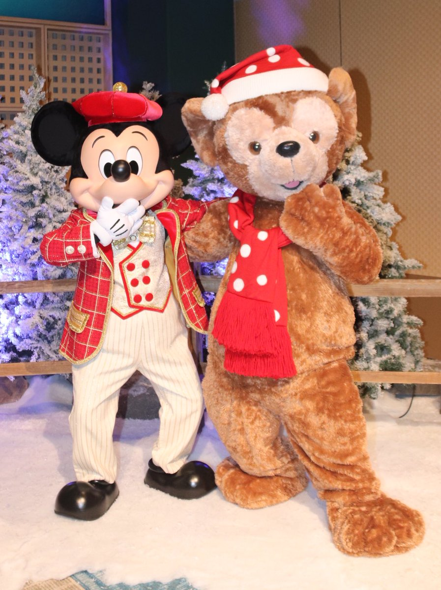 #MickeyMouse and #DuffytheDisneyBear are ready for #SantaClaus to come to town! #DisneyChristmas #Duffy #MickeyandDuffy #ミッキーマウス #ダッフィー #DVCMember #DVC #DisneyVacationClub