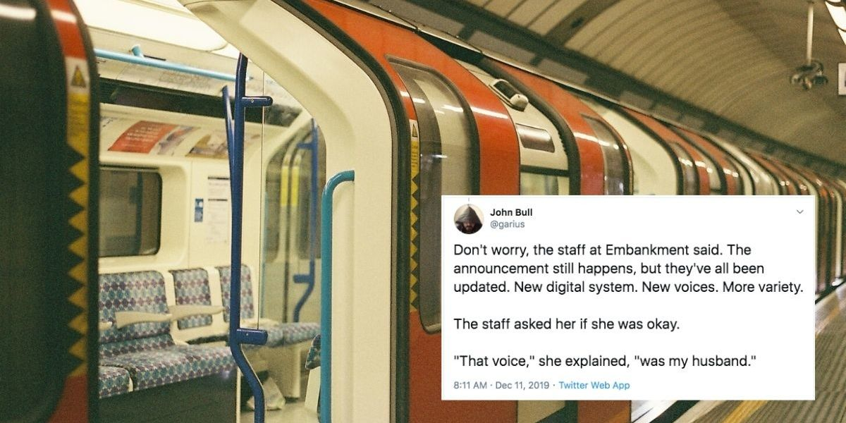 A unique voice at a #LondonSubway stop remains as an #ActOfKindness to a grieving widow. #shelteringgrace
