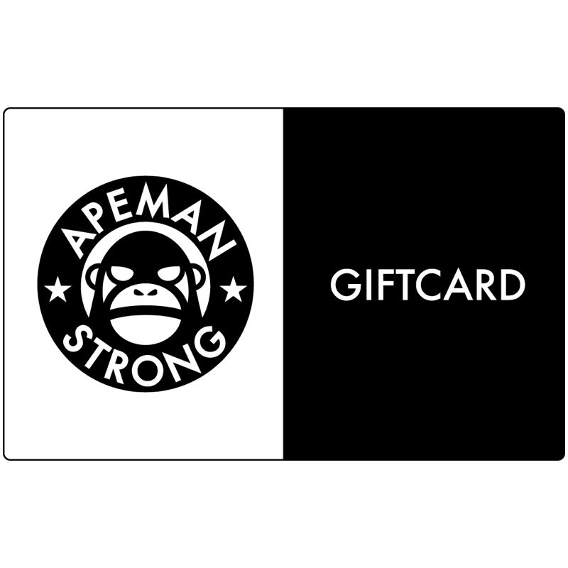 Need a last minute gift? We have you covered. The Apeman Digital Gift Card. Available at apemanstrong.com/giftcard