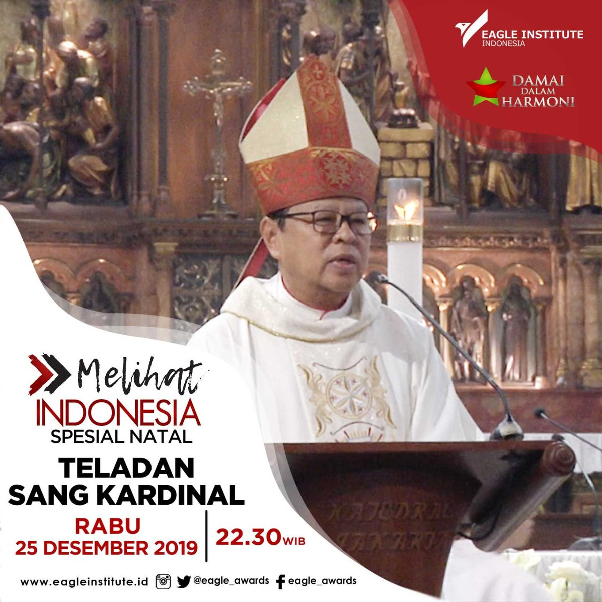 Menjadi kardinal adalah kehormatan dalam mengemban amanah besar. Bagaimana kita melihat sosok Kardinal dengan kesahajaannya dan sebagai teladan bagi seluruh umat Katolik?#MELIHATINDONESIAMETROTV spesial Natal #TeladanSangKardinal hari Rabu (25/12) pukul 22.30 WIB di Metro TV.