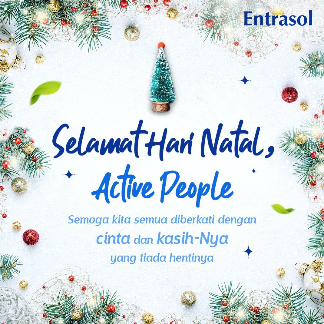 Selamat Hari Natal untuk Active People yang merayakan, dan jangan lupa untuk melengkapi kebersamaan Natal dengan #NutrisiPalingNgerti dari segelas susu Entrasol. #Entrasol #NutrisiPalingNgerti #Natal #MerryChristmas