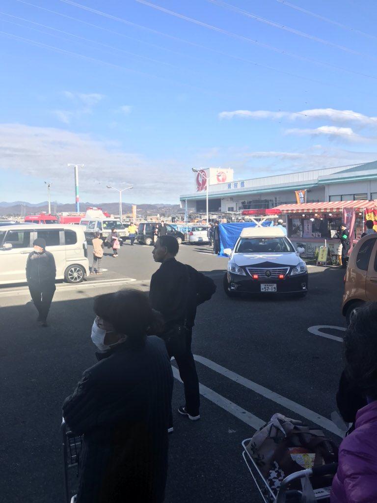 太田市城西町のショッピングモールで死亡事故が起きた現場の画像