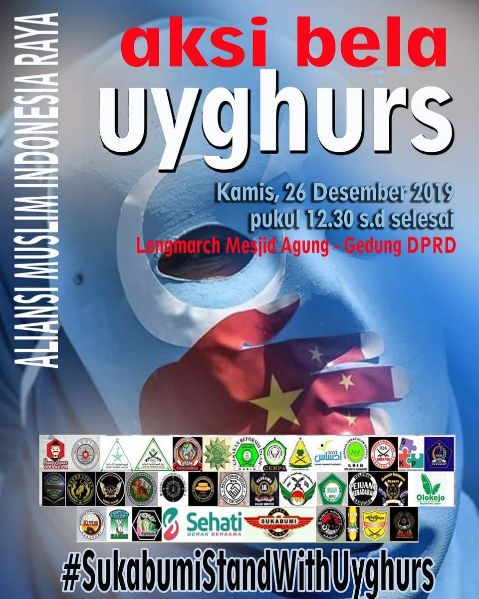 Jangan lupa besok ada (Aksi Bela Uyghurs, stard di masjid agung  ke gedung DPRD kota sukabumi... longmarch . .#sukabumi #sukabumiupdate #SukabumistandWithUyghurs #mujahidah212 #masjidagung #uyghur #aksibelauyghur #aliansi #cinaisterrorist #saveuighur #saveuyghur #savemuslimuyghurpic.twitter.com/ii1sFddaCy