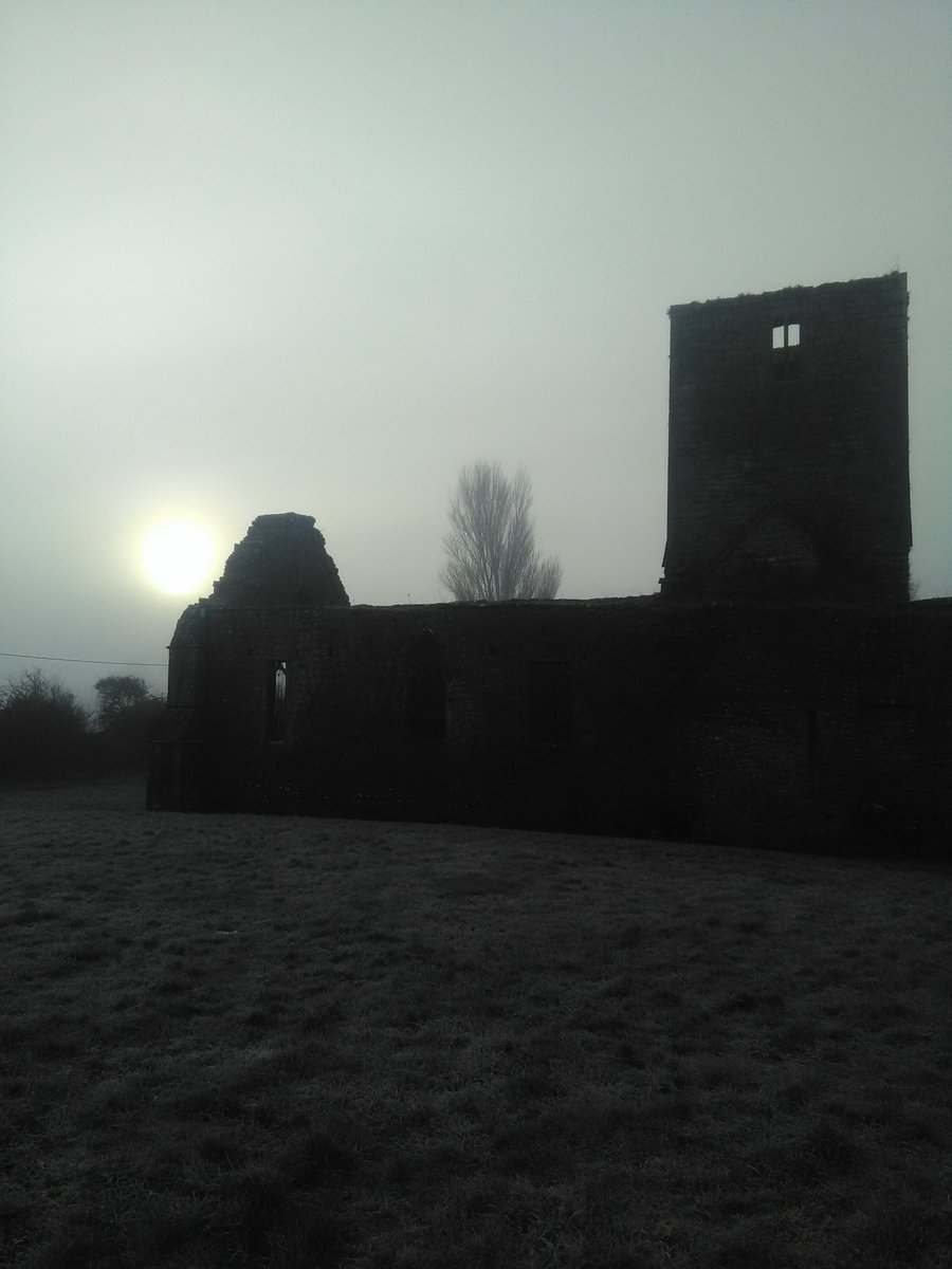 Christmas morning and the priory at Callan.
