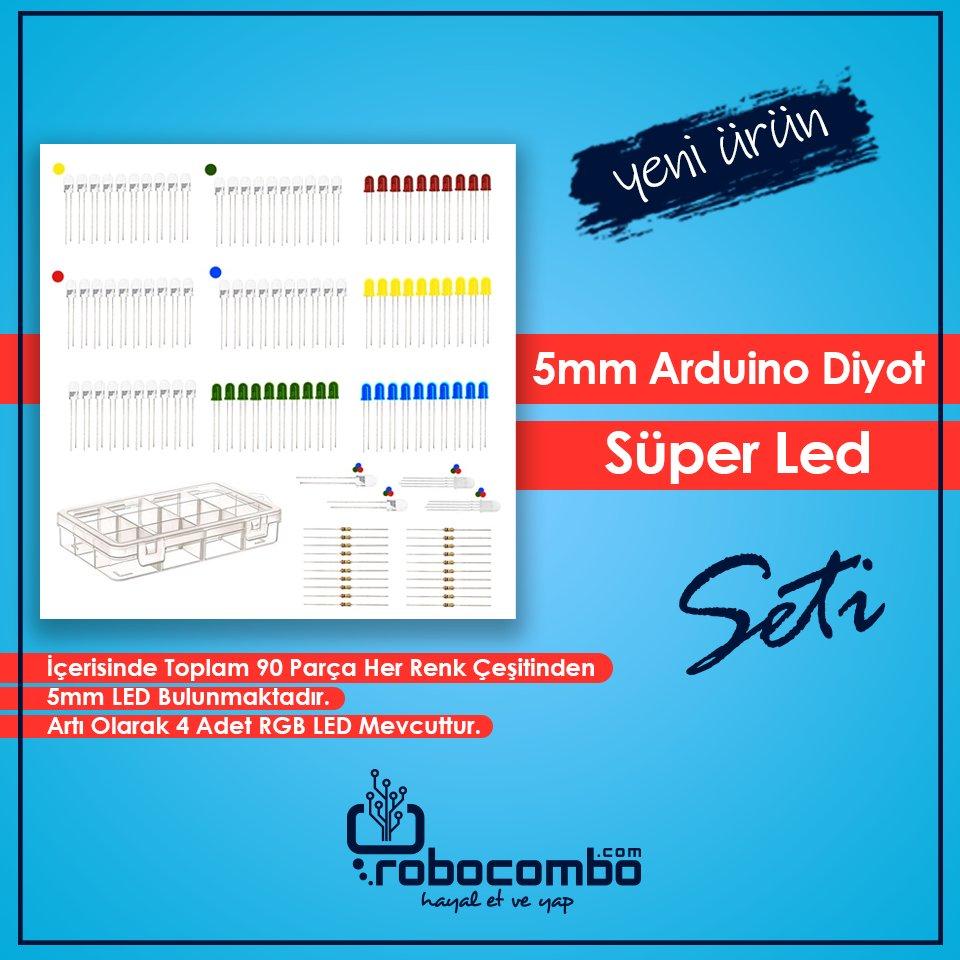 http://Robocombo.com'dan Yepyeni Ürün! 5mm Arduino Diyot Süper Led Seti - 94 Parça  Link:http://www.robocombo.com/5mm-arduino-diyot-led-seti…  #mekatronik #maker #mekatronikmuhendisligi #arduino #robocombocom #hayaletveyap #robocombo #arduinoset #3dprinter #3dyazici #robot #robotics #robotik #raspberrypipic.twitter.com/6nhJ3dzw9O