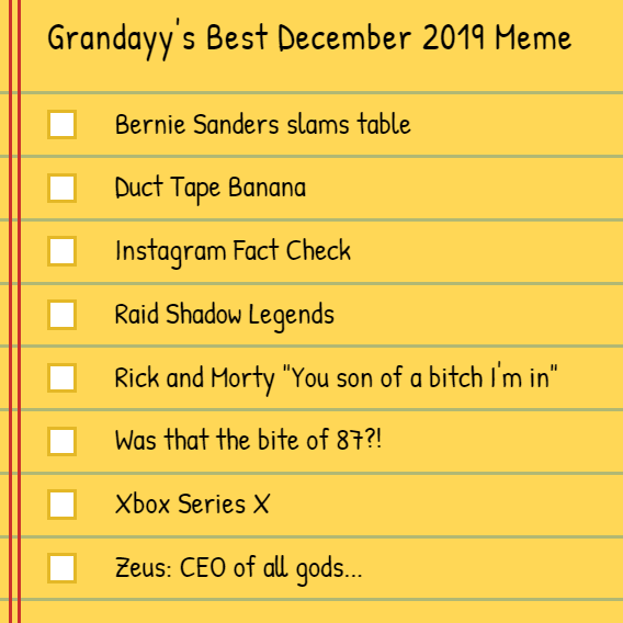 Dr Grandayy On Twitter Ok Not The Best Meme Month But You Can Now Vote For The Best Meme Of December Here Https T Co Obliqtqfdi
