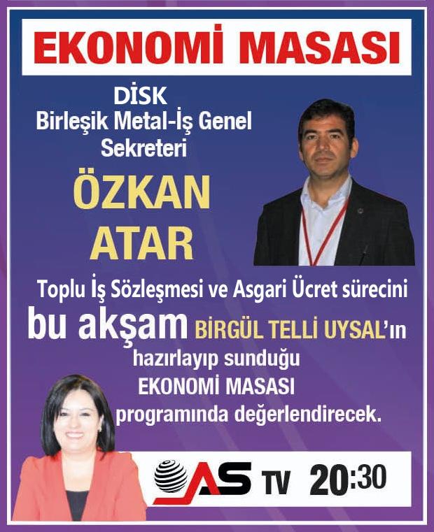 Toplu sözleşme sürecimiz, Bursa AS TV ekranlarında