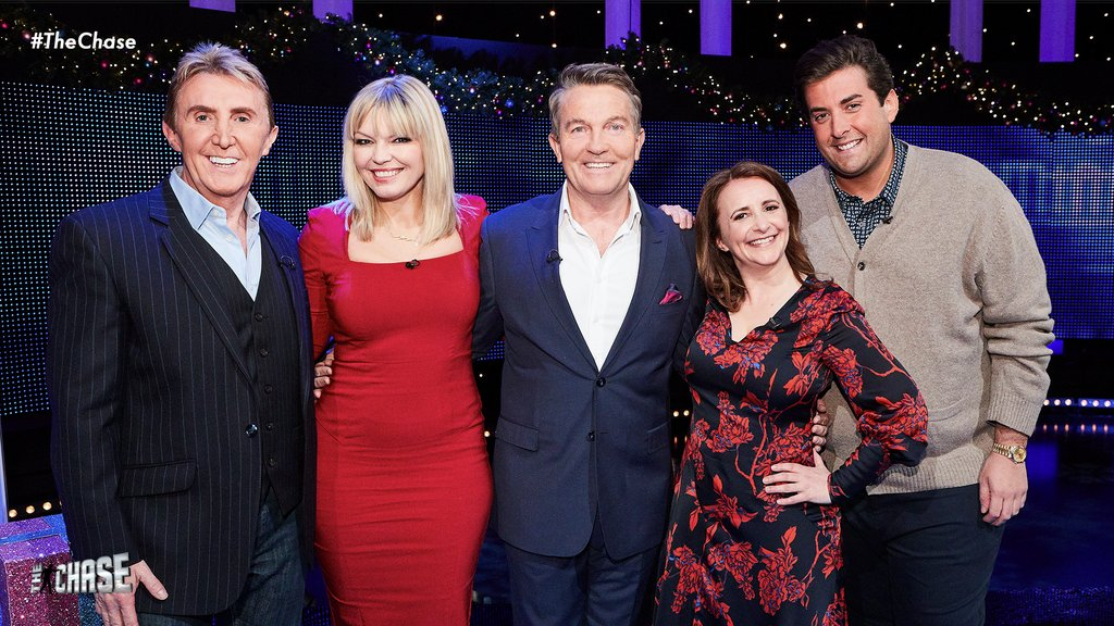Our Christmas Day Special episode is almost here! 🌟 Tonight at 6PM we're joined by @k8_thornton, @RealJamesArgent, @lucyportercomic and @thespeakmans on @ITV and @WeAreSTV! #TheChase https://t.co/sjfQ1OLCBd