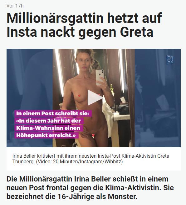 Nackt  Greta Thunberg Manipuliertes Foto