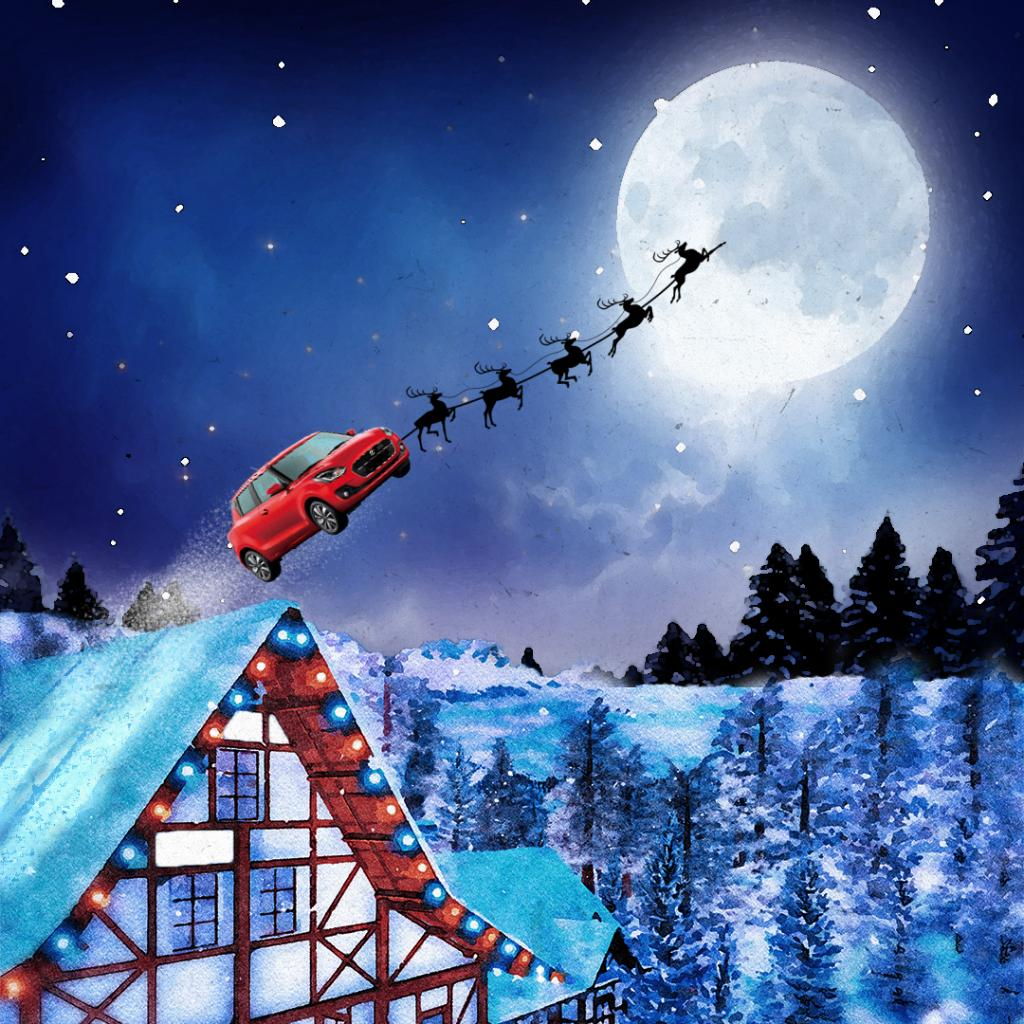 Just one night to deliver everyone's presents? Santa was Swift! 🚗🎅 https://t.co/o5h64HieTa