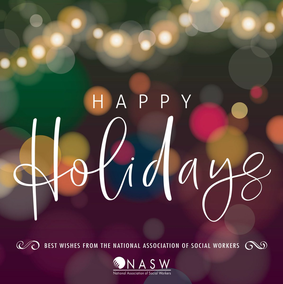 #SeasonsGreetings from #NASW #happyholidays