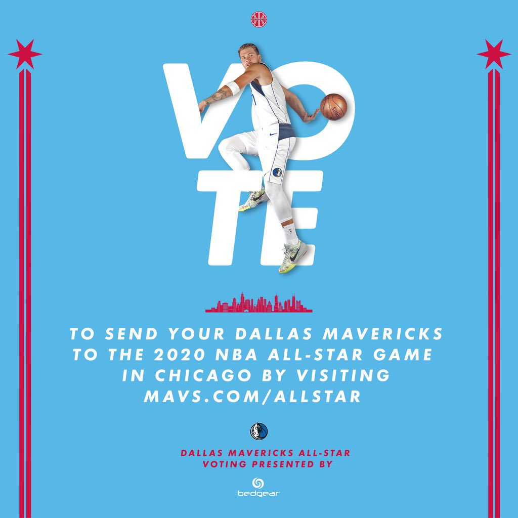 It's that time of year again! Let's send the Wonder Boy to the All-Star Game 🌟#MFFL VOTE ➡️http://on.mavs.com/trk/2020AllStar