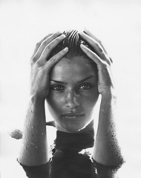 Happy Birthday to Model Helena Christensen who turns 51 today! Photo by Herb Ritts.