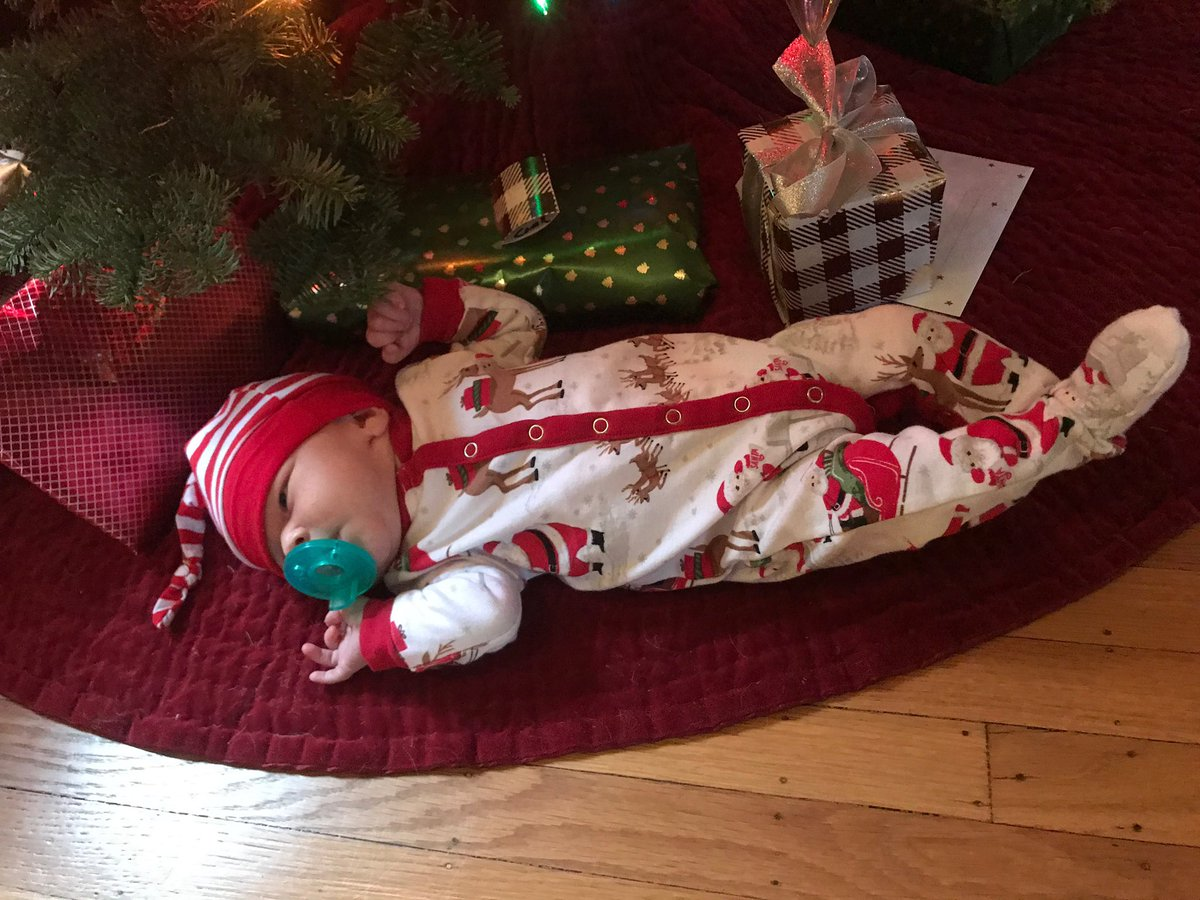 Santa outdid himself with this new little bundle of joy under the tree, Anne Hazel Inslee.