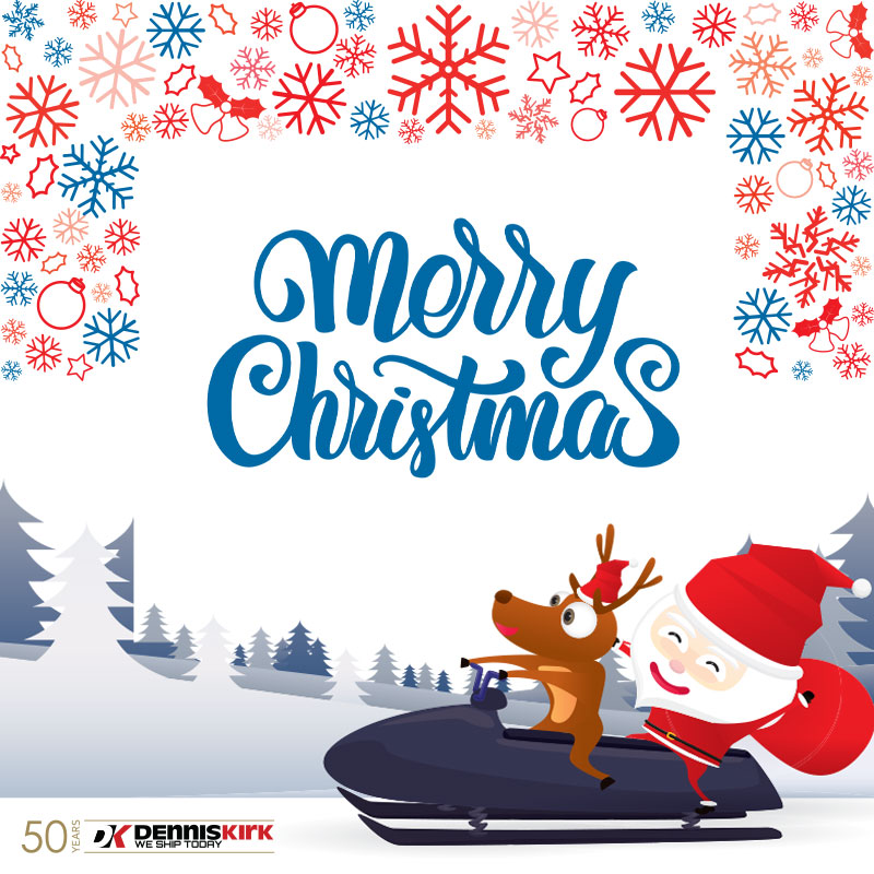 #MerryChristmas from all of us at Dennis Kirk! 🎄🎁🎅   #ridemorewaitless🚚📦🏍️ #merrychristmas #denniskirk https://t.co/lEVRWvYNFO