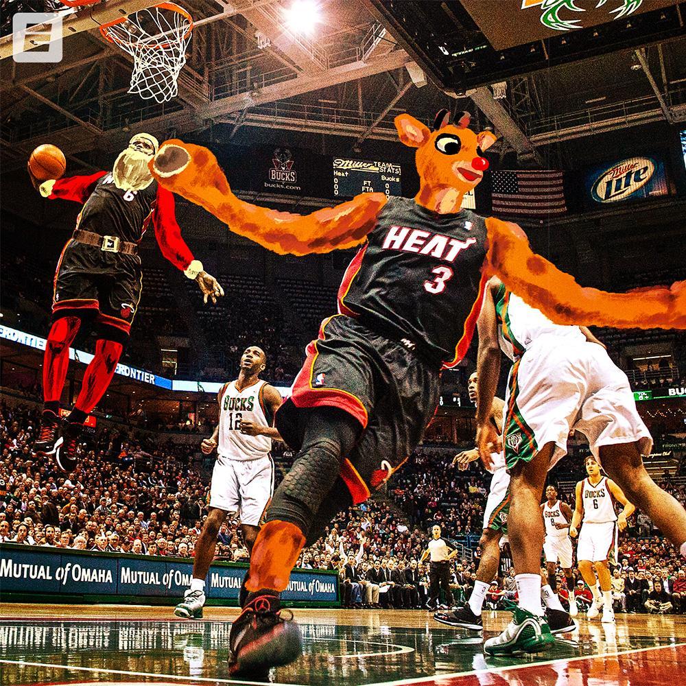 Iconic NBA moments x Iconic Christmas characters 🏀🎄