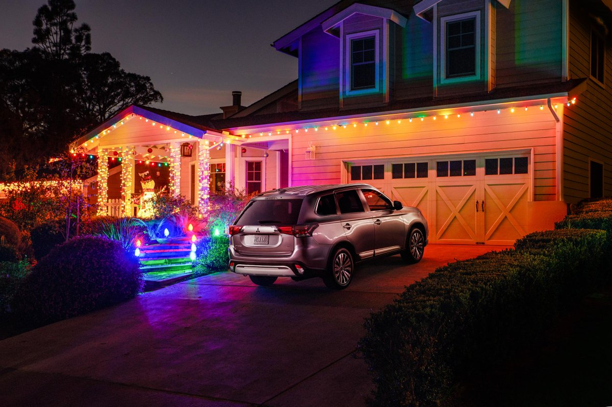 We put lots of miles on the #MitsubishiOutlander on our way to celebrating the holidays.