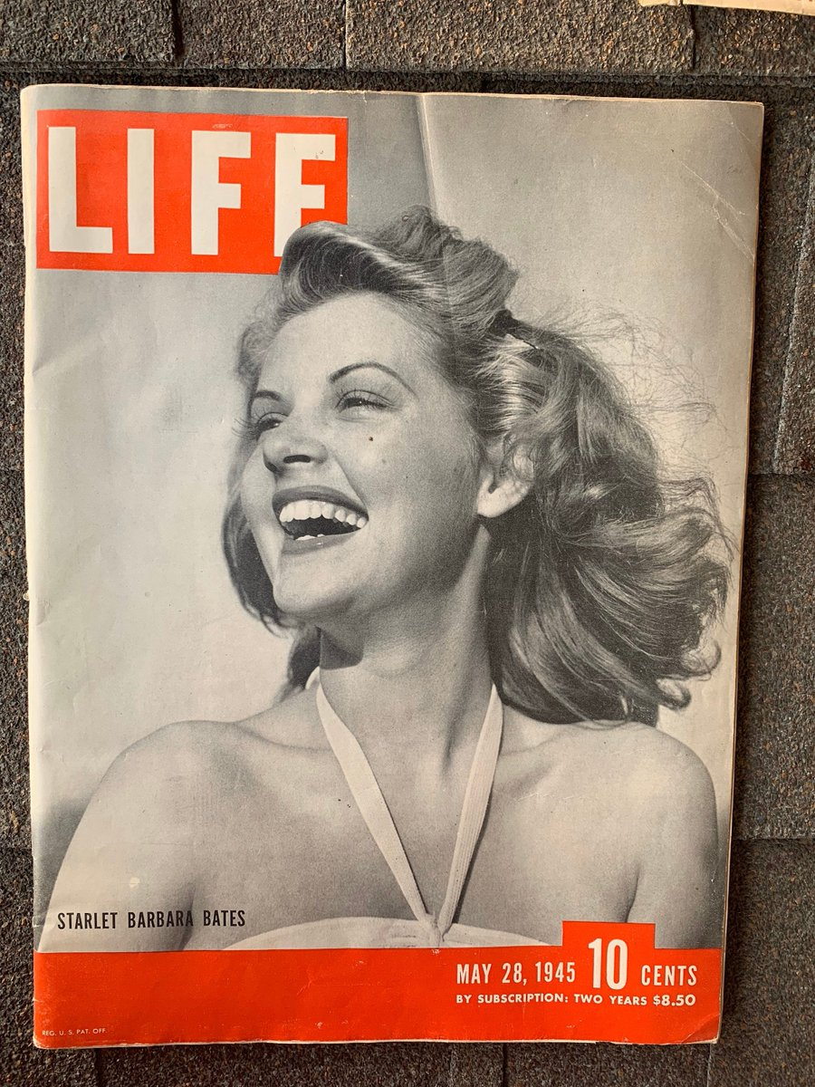 Excited to share the latest addition to my #etsy shop: Vintage Life Magazine May 28, 1945 - Barbara Bates Cover - All About Eve Star - WWII Military Memorabilia - Complete and Original https://etsy.me/3982yFf #BarbaraBates #AllAboutEve #lifemagazine #wwiipic.twitter.com/FrsotGXEND